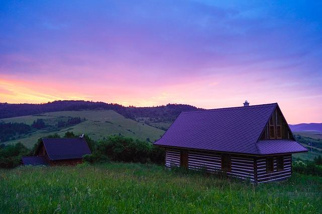 západ na venkově