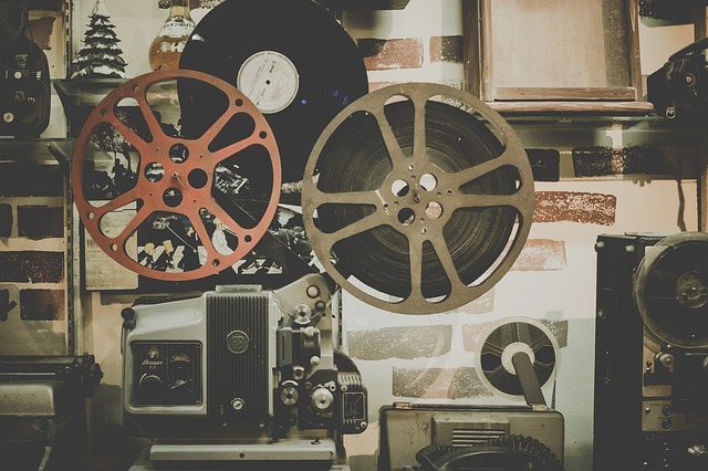 starý navíják filmů
